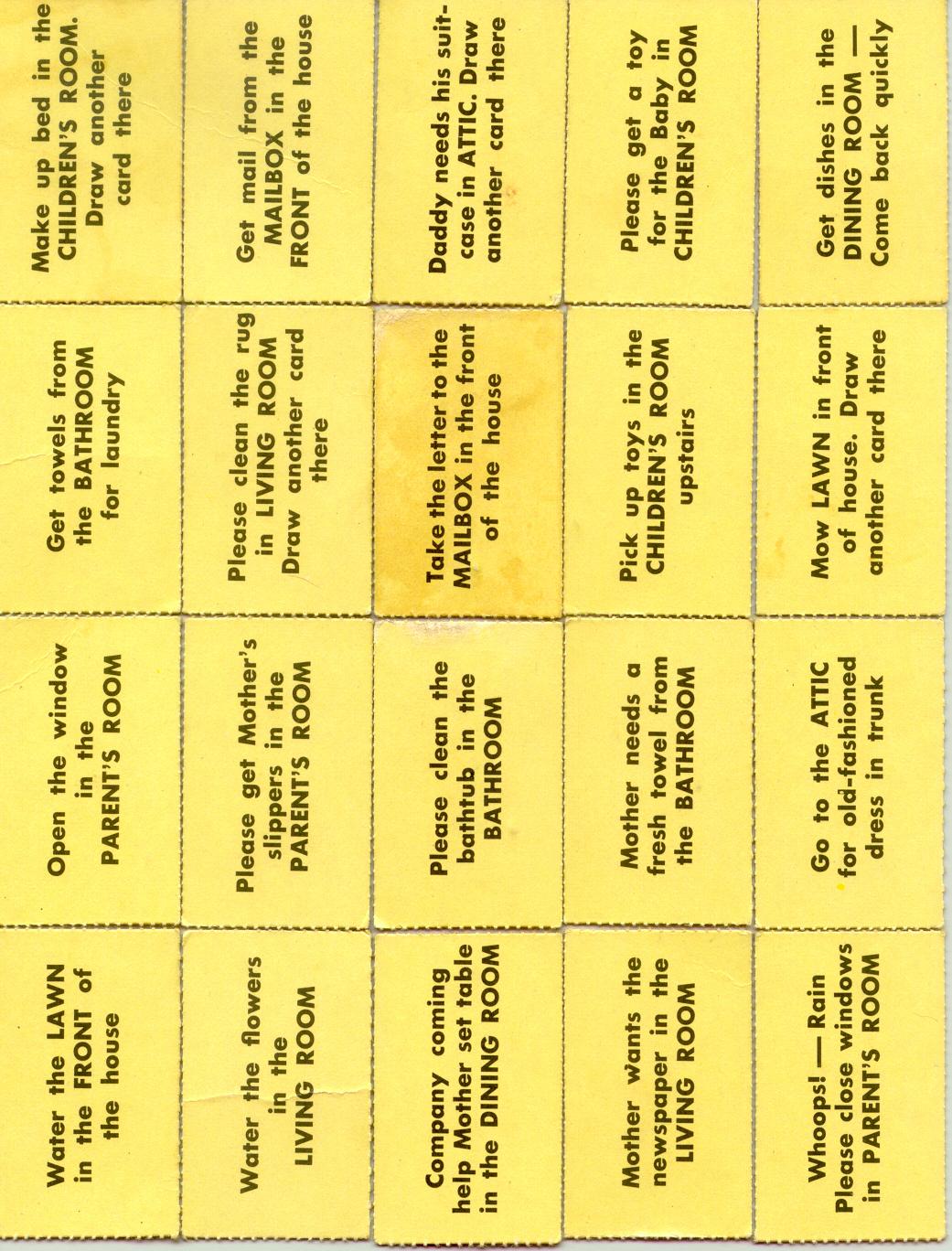 chore card template